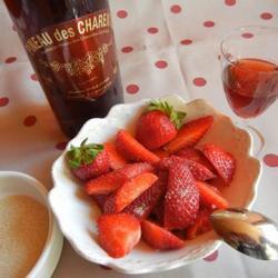 Fraise au pineau rosé