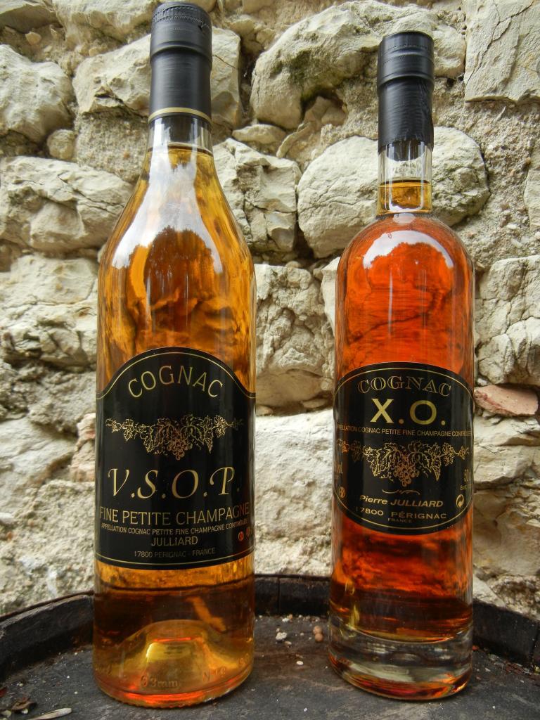cognac VSOP  et  X.O.