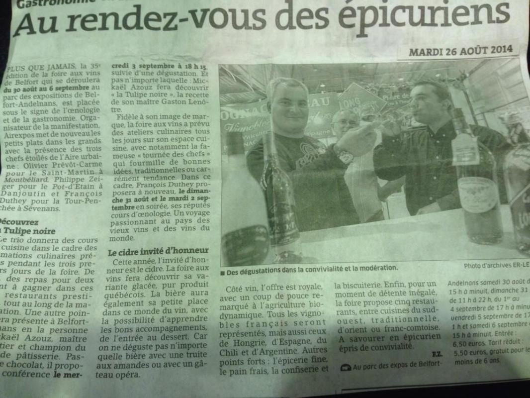 Article foire Belfort